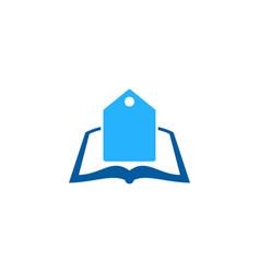 Label book logo icon design vector