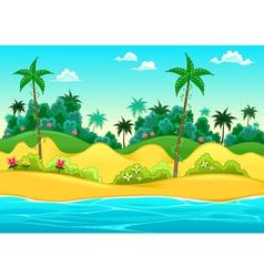 Landscape on seashore vector