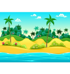 Landscape on the seashore vector image