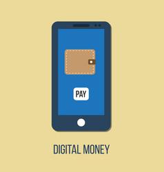 mobile banking digital wallet concept vector image