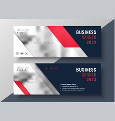 modern red theme business banner template vector image