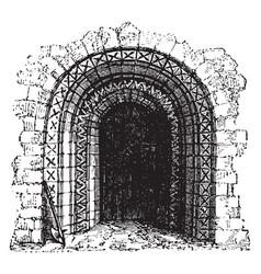 Norman doorway roman architecture vintage vector