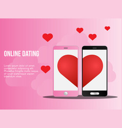online dating concept ready to use suitable vector image