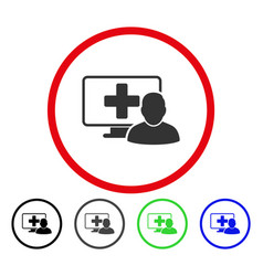 online medicine rounded icon vector image