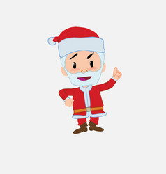 santa claus talking very determined and optimistic vector image