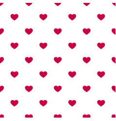 Seamless pattern with small red hearts on white bg vector