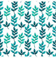 Seamless pattern with turquoise and green tropical vector