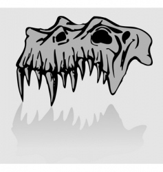 skull of demon vector image