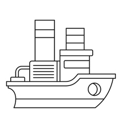 Small ship icon outline style vector image