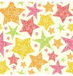 Snowflake Textured Christmas Stars Seamless vector image