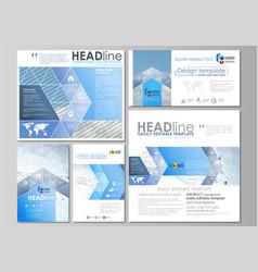 social media posts set business templates vector image vector image