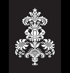 Stylized floral design element damask vector