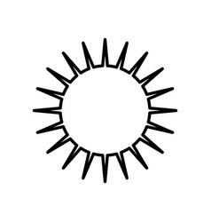 sun day weather outline vector image