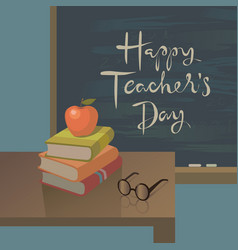 Teachers day greeting card background vector