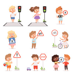 traffic road education school kids learning vector image
