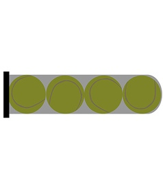 Tube with balls vector image