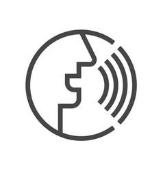voice command control recognition line vector image