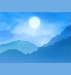 Watercolour landscape background vector