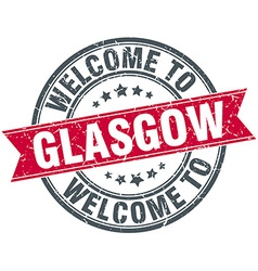 Welcome to Glasgow red round vintage stamp vector