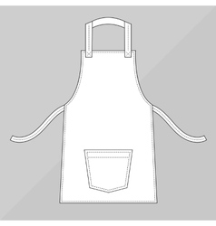 White apron with pocke vector