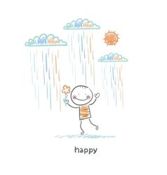 happy man vector image vector image