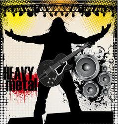 heavy metal vector image vector image