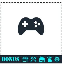 Joystick icon flat vector image vector image