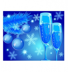 new year toast vector image