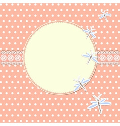 Round frame with dragonflies vector image vector image