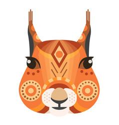 squirrel head logo decorative emblem vector image