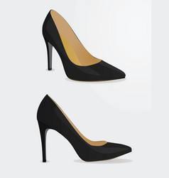 women black shoes vector image vector image