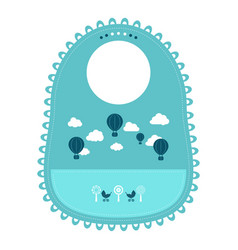 baby bib for eating food isolated on a white vector image