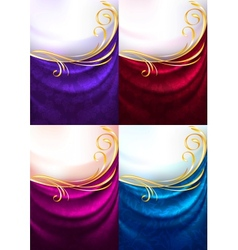 fabric ornamental background vector image vector image
