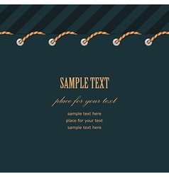 frame rope stitch vector image