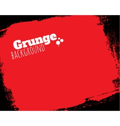 Rolled textured grunge red background vector image vector image