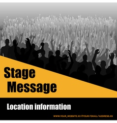 stage message flyer vector image vector image
