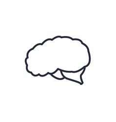 brain organ human think intelligence icon vector image