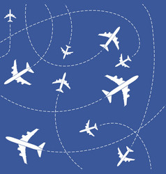 creative of plane with dashed vector image
