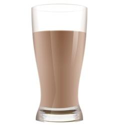 Glass of cocoa with milk Chocolate milkshake vector image vector image
