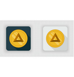 light and dark basic attention token crypto vector image vector image
