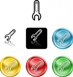 spanner icons vector image