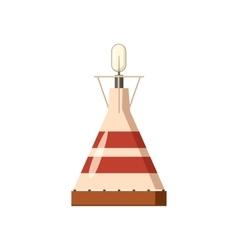 Portable gas burner icon cartoon style vector image