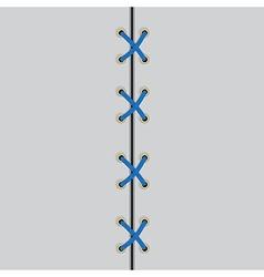 shoe lace black symbol vector image vector image