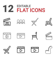 12 director icons vector image