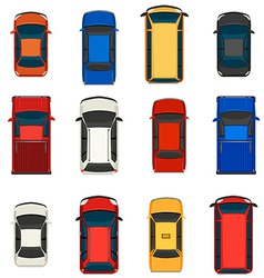 A group of vehicles vector image