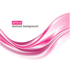 Abstract elegant pink wave motion dynamic vector