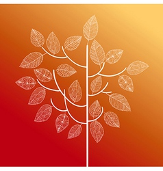 Abstract hand drawn tree autumn concept EPS10 file vector image