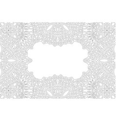 Adult coloring book art with eastern border vector