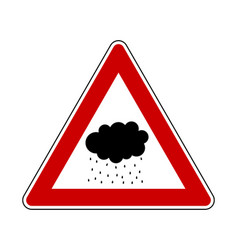 Attention rain cloud on white vector