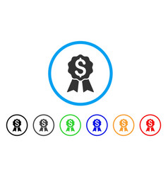 banking award rounded icon vector image
